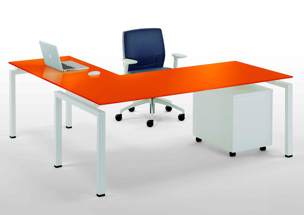 Scrivania Angolo Computer : Scrivania ad angolo clip vetro galimberti sedie e tavoli