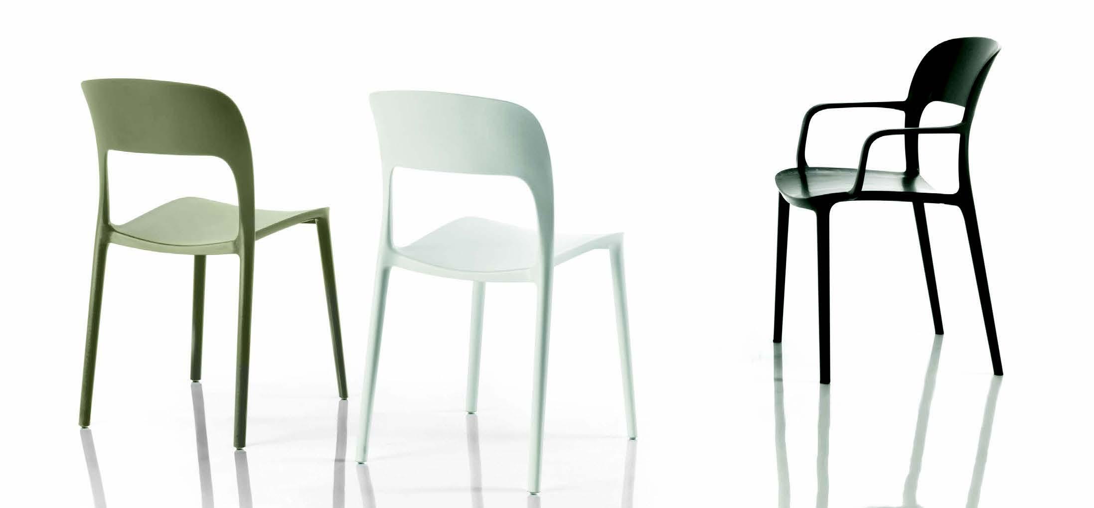 Sedia in polipropilene gipsy galimberti sedie e tavoli for Sedia polipropilene