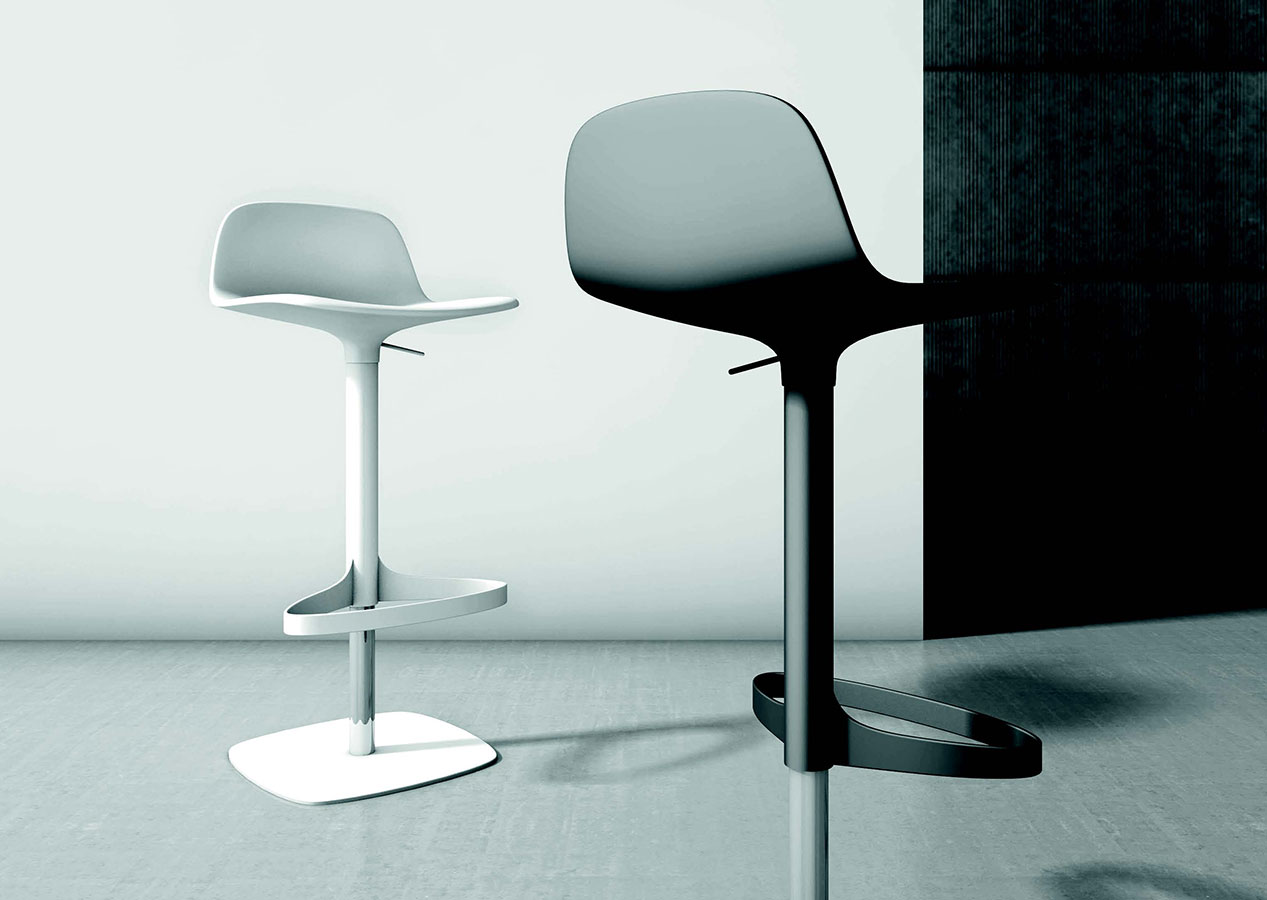 Sgabello in acciaio bonnie galimberti sedie e tavoli