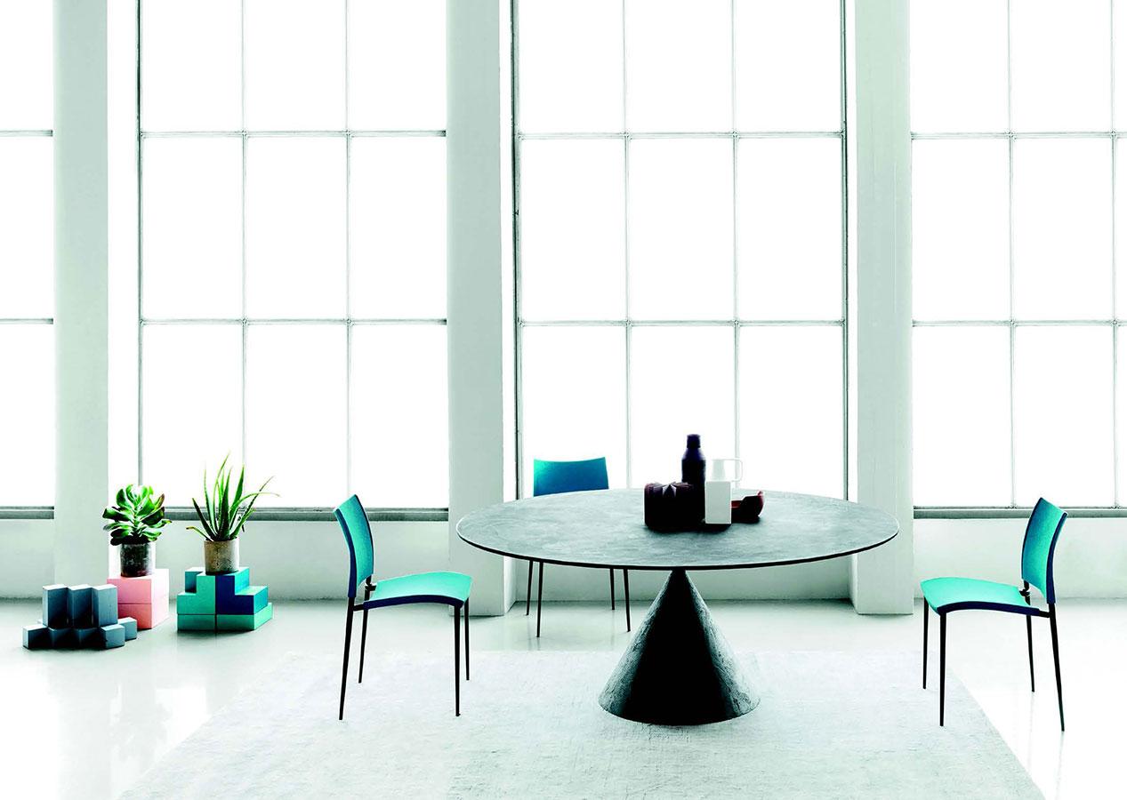 Tavolo con base in pietra galimberti sedie e tavoli - Tavolo con base in pietra ...