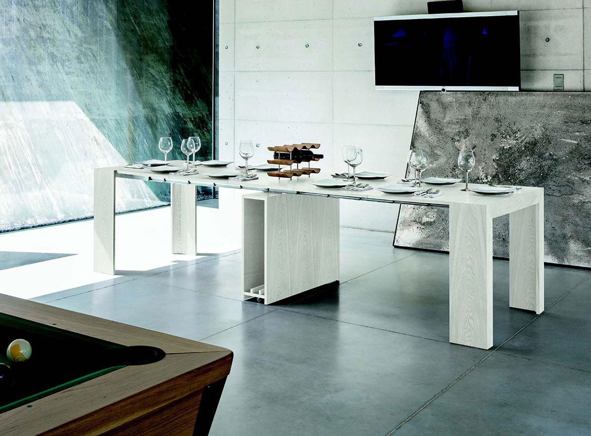 Tavolo a consolle venus 5m galimberti sedie e tavoli for Tavolo a consolle