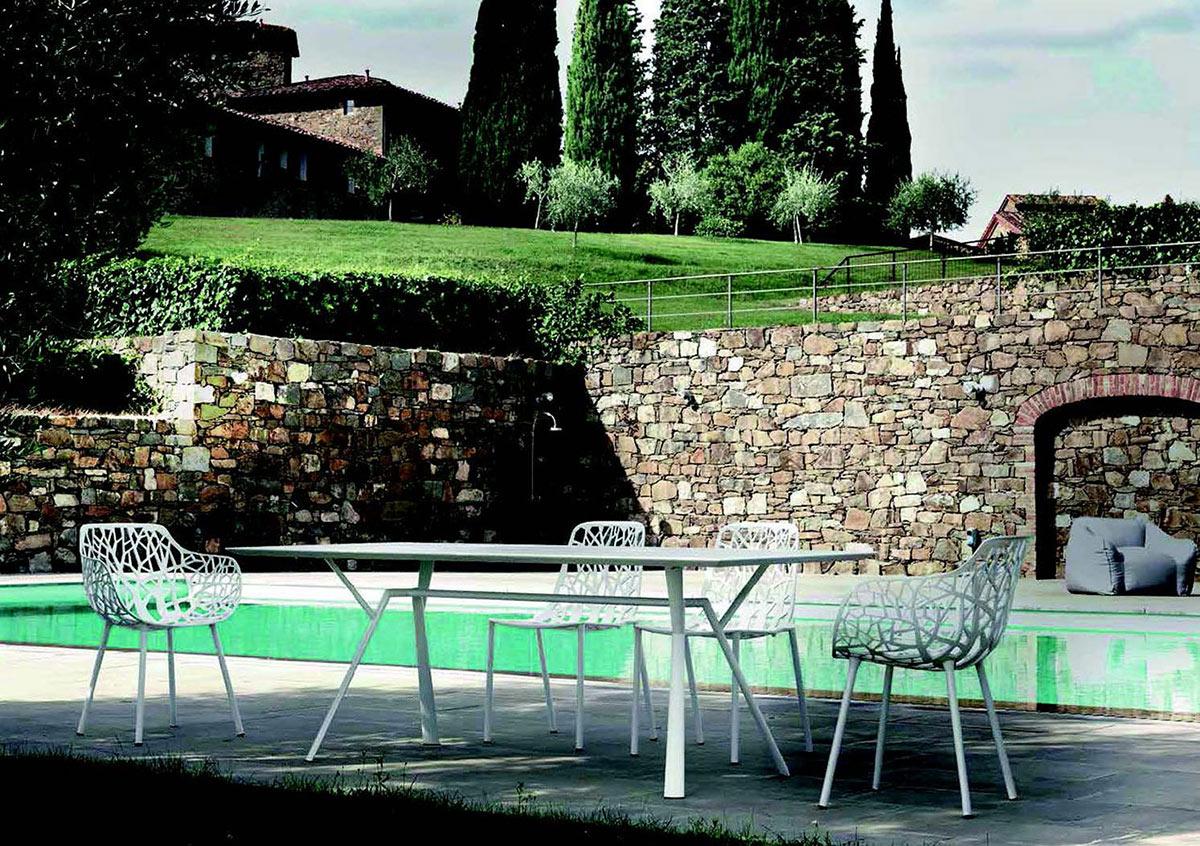 Tavolo in alluminio radice quadra galimberti sedie e tavoli - Tavolo con radice ...