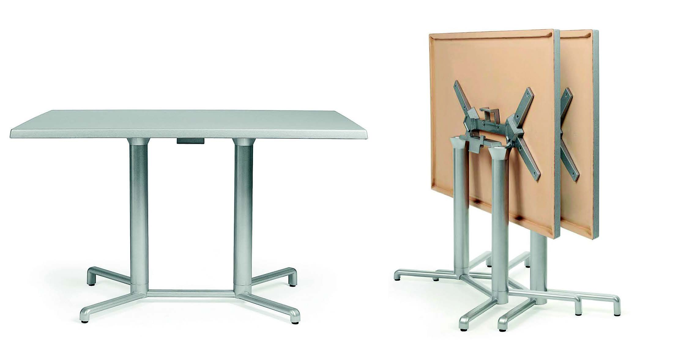 Tavolo pieghevole scudo double galimberti sedie e tavoli for Tavolo plastica pieghevole